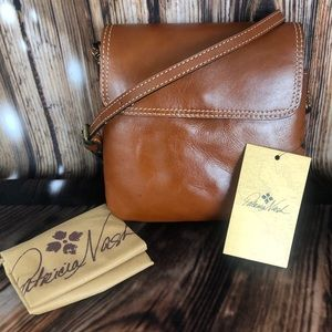 NWT Patricia Nash Balluri Tan Crossbody Bag